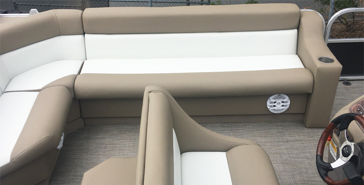 Pontoon Boat Upholstery Feature