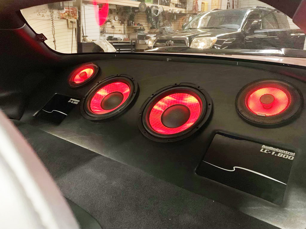 """Focal Flax Evo 10"""" Subwoofers Lit Up"""